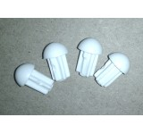 127-54B Skid Ends TS III White - Pack of 4