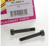 0082-4 5 x 32mm Shouldered Socket Bolt - Pack of 2
