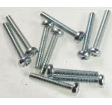 0039-1 2.5 x 14mm Phillips Machine Screw - Pack of 10