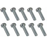 0041 2 x 8mm Slotted Machine Screw - Pack of 10