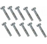 0043 2 x 10mm Slotted Machine Screw - Pack of 10