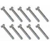 0045 2 x 14mm Slotted Machine Screw - Pack of 10